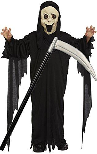 er Scream Bademantel & Maske Halloween-Kostüm mit Scythe (Scythe Halloween)