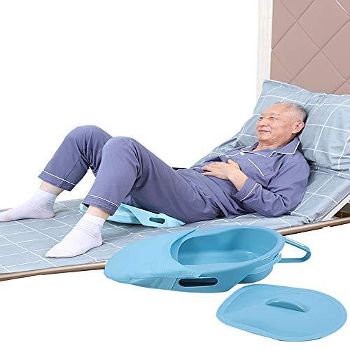 XIHAA Portable Bettpfanne, Medical Und Home Der Patient Liegt Im Bett Und Urinieren, Für Geeignete Für Bettlägerige Patienten Schwangere Frau Und Alter Mann (Blau)