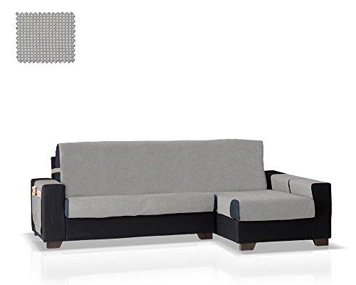 JM Textil Schoner für Ecksofa mit GEA Ottomane Rechts, Grösse Normal (245 cm.), Farbe Grau