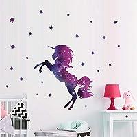 Bamsod Dream Unicorn Wall Stickers Kids Wall Decals Vinyl Art for Girls Boys Bedroom,Home Decor