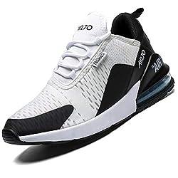 Mabove Laufschuhe Herren Damen Turnschuhe Sportschuhe Straßenlaufschuhe Sneaker Atmungsaktiv Trainer für Running Fitness Gym Outdoor(Schwarz Weiß 9670,42 EU)