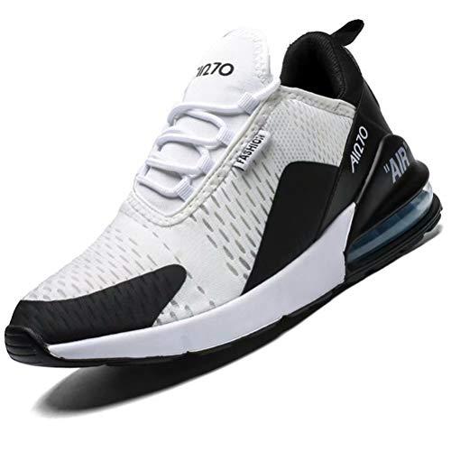 Mabove Laufschuhe Herren Damen Turnschuhe Sportschuhe Straßenlaufschuhe Sneaker Atmungsaktiv Trainer für Running Fitness Gym Outdoor(Weiß.B/9670,39 EU)