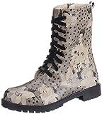 DOGO Damen Stiefel ZIPSY Black Dress Schnürboots Reißverschluss Grau Schwarz, Größe 38