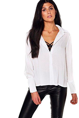blanc Femmes Isla Chemise En Coton À Revers Détachés Blanc