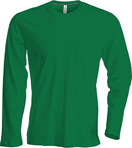 Herren T-Shirt langarm von notrash2003 (4XL, Grün)