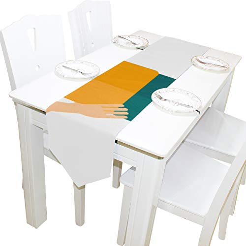 ball Sport Kommode Schal Tuch Abdeckung Tischläufer Tischdecke Tischset Küche Esszimmer Wohnzimmer Home Hochzeitsbankett Dekor Indoor 13x90 Zoll ()