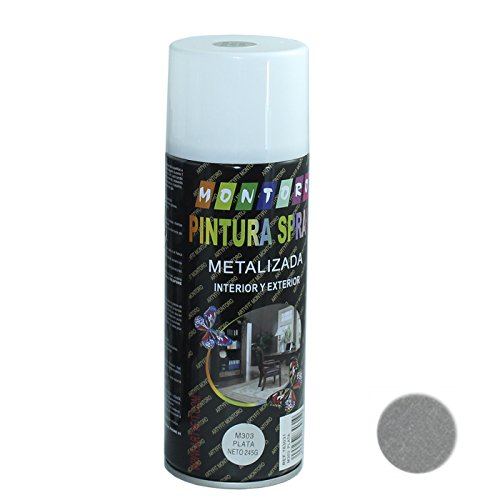 Montoro - Bote de pintura en spray Plata M303 400 ml