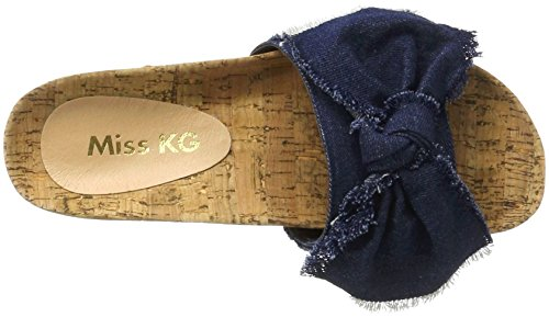 Miss KG Denim, Sandales Compensées femme Blau (Blue)