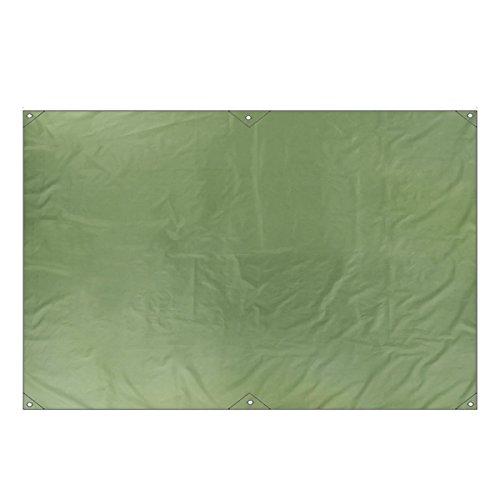 TRIWONDER Multifunktions wasserdichte Hängematte Regenfliege Tarp Footprint Camping Shelter Sonnenschirm Strand Picknick-Matte für Camping Wandern (Grün, S - 86.6 x 59.1in)