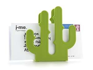 J-me JMCACLHGN Range-courrier Cactus Vert Plastique  16.61x15.2x6 cm