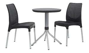 keter rattan bistro set chelsea graues bistro set balkon. Black Bedroom Furniture Sets. Home Design Ideas