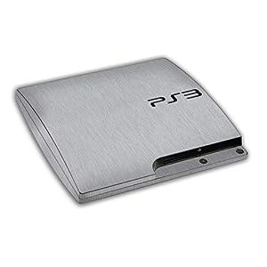 atFoliX Designfolie (Zubehör) – Struktur Skin Aufkleber kompatibel mit Sony Playstation 3 Slim