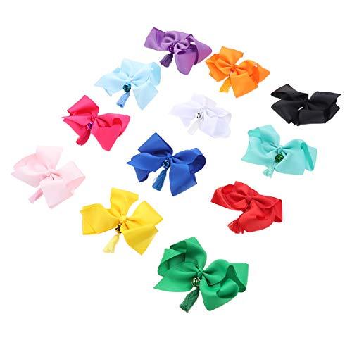 Lurrose Fashion Lovely Bownout Barrettes Bell Hair Accessoires Haarnadeln für Kinder Mädchen Kleinkinder Teenager Kinder 12 - Machen Bell Boy Kostüm