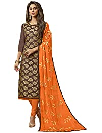 f9ee2ac3ee Shree Ganesh Retail Womens Banarasi Silk Churidar Material with inner| Salwar  Suit | Salwar Kameez