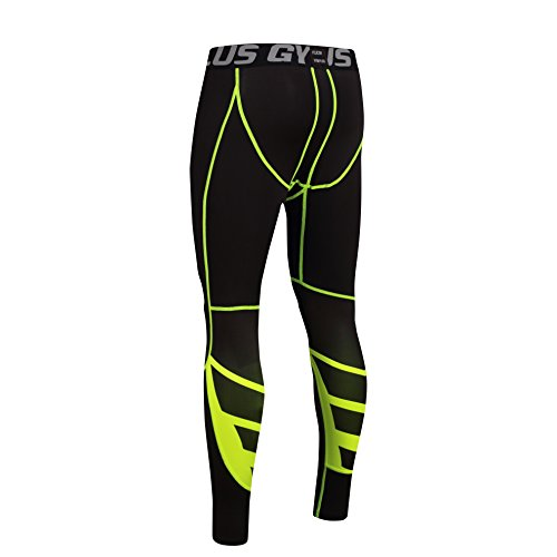 FELiCON® GYM Mens Running Sports Cycle Pants Men Men's Compression Tights Wear Workout Clothes Quick Dry Breathable Comfortable Leggings Base Elite Fitness Trousers Thermal