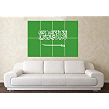 Large Saudi Arabia Flag Football World Cup Fifa Car Wall Poster Art Picture Print Christmas Birthday Present Gift