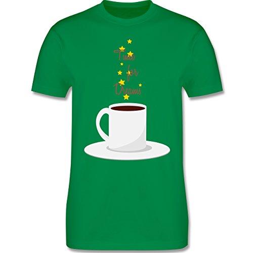 Küche - Kaffee-Tee-Spruch - Herren Premium T-Shirt Grün
