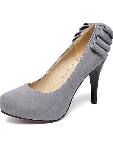 WSS 2016 Chaussures Femme-Extérieure / Décontracté-Noir / Vert / Rouge / Gris-Talon Aiguille-Talons / A Plateau / Confort / Bout Arrondi-Talons- gray-us8 / eu39 / uk6 / cn39