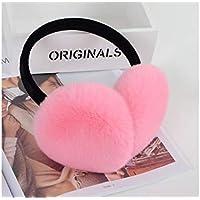 SUPRERHOUNG Cute Plush Earmuffs Acogedores Calentadores térmicos de Invierno para Las Mujeres (Blanco) (Color : Pink, tamaño : 11cm)