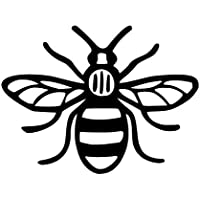 Made In Manchester Bee Car Bumper Sticker Decal 12 x 12 cm - ukpricecomparsion.eu