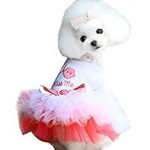 Vestido para mascotas de Esailq, estilo de princesa, con falda y tutú