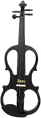 Andoer® 4/4 Violín Eléctrico Madera de Arce Instrumento de Cuerdas con Accesorios de Ébano Funda de Auriculares para Principiantes Amantes de Música