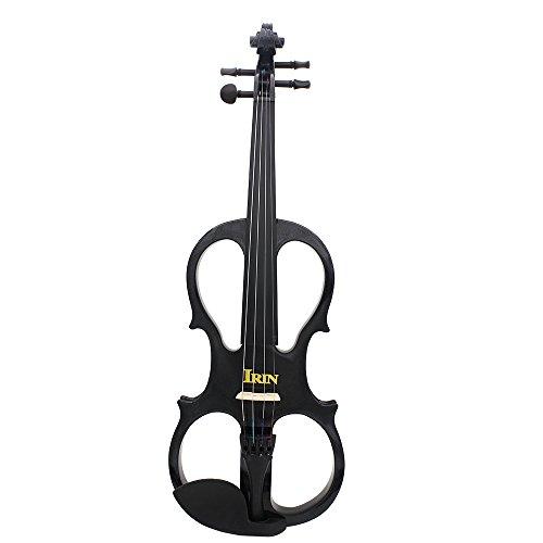 Holz Ahorn 4/4 Geige Geige, Saiteninstrument mit Ebenholz Armaturen Kabel Kopfh?rer Fall f¨¹r Musik-Liebhaber-Anf?nger