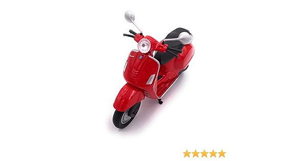H Customs Welly Vespa Motorroller Roller Cruiser Lizenzprodukt 1 18 Rot Spielzeug