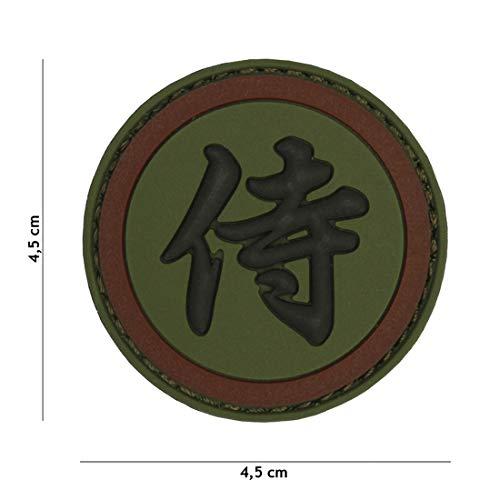 Tactical Attack Samurai grün braun #4105 Softair Sniper PVC Patch Logo Klett inkl gegenseite zum aufnähen Paintball Airsoft Abzeichen Fun Outdoor Freizeit