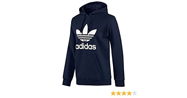 8b6bfea12b adidas Originals Trefoil Pull à Capuche pour Homme Bleu Indigo/Blanc Taille  : L: Amazon.fr: Sports et Loisirs