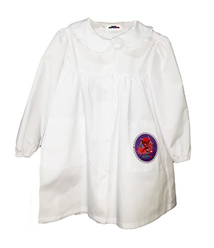 Grembiule scuola bimba pjmasks gufetta nuova collezione bianco art. g016 (65)