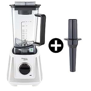 Bianco Primo weiß Hochleistungs-Mixer/Standmixer + Stampfer (Smoothie Maker mit 28000 Umdrehungen/min. 1200 Watt)