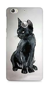 Amez designer printed 3d premium high quality back case cover for LeEco Letv Le 1S (Painted Cat)