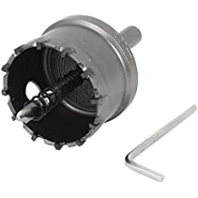 sourcingmap® 50mm Diamètre Carbure Pointe Trous Saw Perceuse Embout pour Alliage Acier Inoxydable