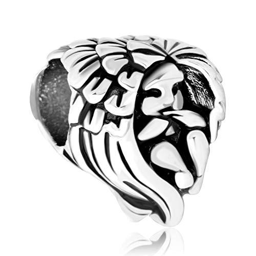 Poetic - charm in argento sterling 925 a forma di cuore con angelo custode, per braccialetti e collane e argento, cod. pot_dpc_myss733