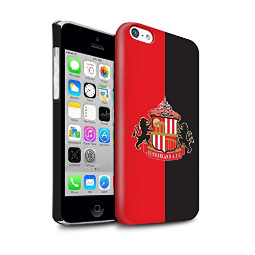 Offiziell Sunderland AFC Hülle / Glanz Snap-On Case für Apple iPhone 5C / Pack 6pcs Muster / SAFC Fußball Crest Kollektion Rot/Schwarz