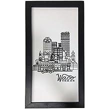 Mobili Rebecca® Decoracíon de pared Cuadro Madera Mdf Moderno Color Negro Blanco Design Salóon Dormitorio ( Cod. RE4968)
