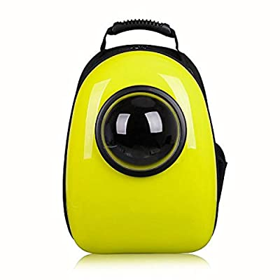 Traveller Dog Dog Carrier, Space Breathable Pet Bag, Mochila Semi-panorámica para Gatos, Amarilla,Mochila paraperros Cachorro de Perro Gato por FLHLH.CO