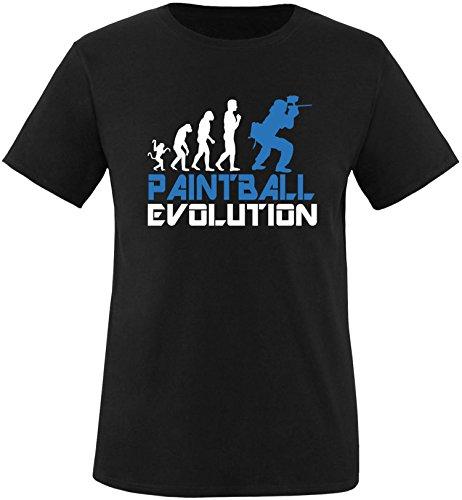 EZYshirt® Paintball Evolution Herren Rundhals T-Shirt Schwarz/Weiss/Blau