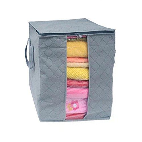 HCFKJ GroßE Kleidung BettwäSche Daunendecke Kissen Nicht Gewebt Aufbewahrungstasche Box (D)