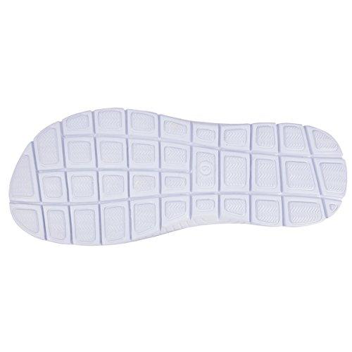 Flip-Flops Herren mit weißen Steppnähten Isotoner Noir