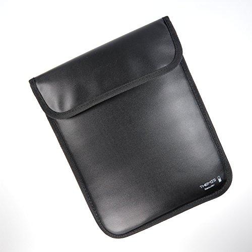 THEMIS Security - GEN3 Tablet Hülle - 3 Lagen Abschirmung, WLAN / GSM / LTE / RFID / NFC Abschirmhülle (Softbag) für iPad 2,3,4, Air - sehr gut auch als Reise Set - für Reisepass, Kreditkarten geeignet (- Auto-alarm-key-set)