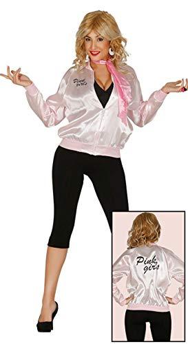 (Enter-Deal-Berlin Damen Kostüm Jacke 50er Jahre Girl Blouson rosa Größe 38-40 (M))