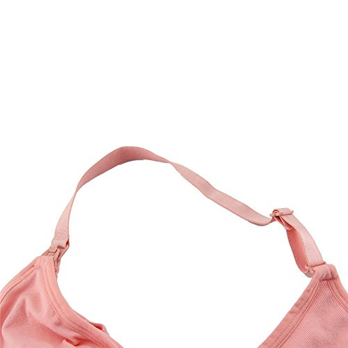 Still BH Cindere Nahtloses Gefütterter Push-up Abnehmbare Pads Bequemer Cup Schwangerschafts BH mit Bügel Rosa