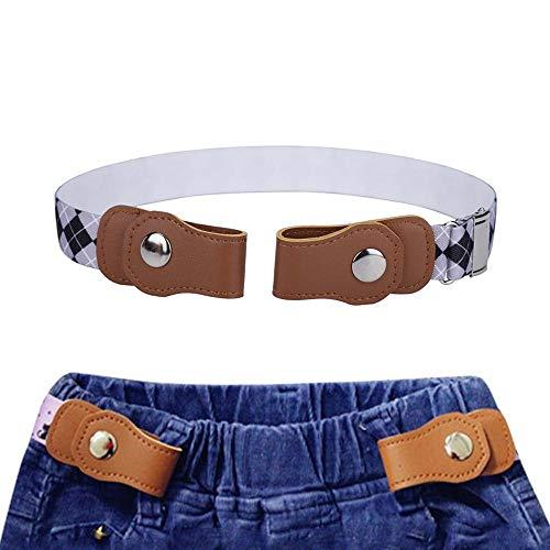 Womdee Toldders Cinturón Sin Hebilla Ajustable, Cinturón Elástico Sin Hebilla para Niños y Niñas   14.0~26.5'Invisible Ajustable Sin Cinturón de Hebilla para Niños-03