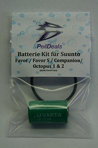 PeilDeals Batterie-Kit/Set für SUUNTO Favor, Favor S, Companion, Octopus 1 & 2