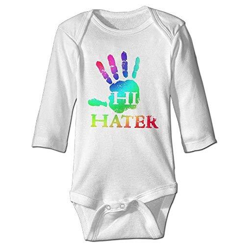 braeccesuit Baby's Rainbow Hand Hi Hater Long Sleeve Romper Onesie Bodysuit Jumpsuit,6M Hand-seersucker
