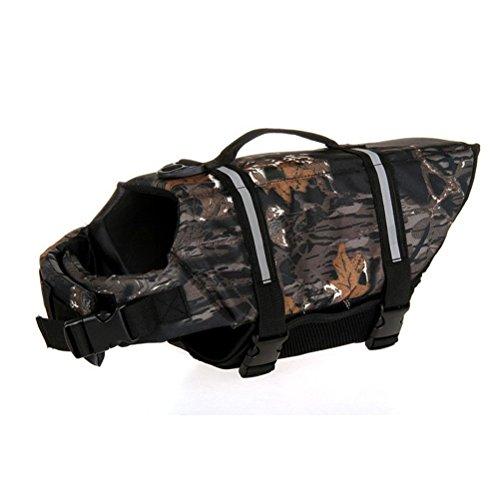 Dog Life tarnung Jacke Weste Saver Sicherheit Badeanzug Preserver Mit Reflektierende Streifen/verstellbare Gürtel für die meisten Größe Hunde Hundeschwimmweste (Chihuahua Badeanzug)