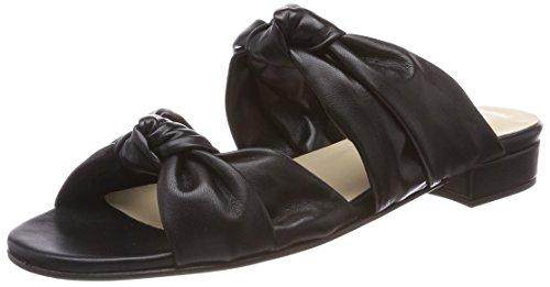 GARDENIA COPENHAGEN Womens Gillisi Knot Open Toe Sandals, Black (Softanil Black), 6 UK