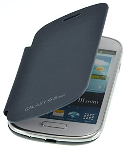 PhoneStar Flip-Cover Etui Housse pour Samsung Galaxy S3 Mini i8200 en Pebble Bleu